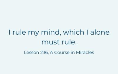 I rule my mind