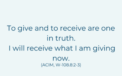 To give and receive